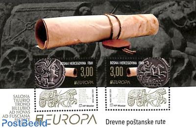 Europa, old postal roads s/s