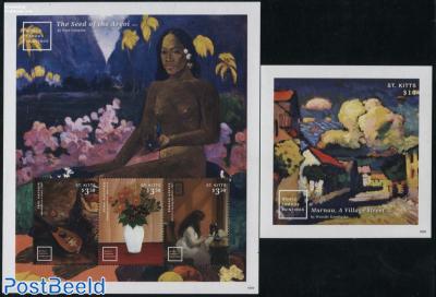 Paintings, Gauguin, Kandinsky 2 s/s