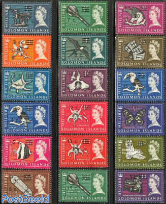 Definitives, overprints 18v