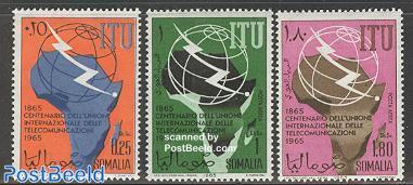 ITU centenary 3v