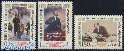 Lenin birth centenary 3v