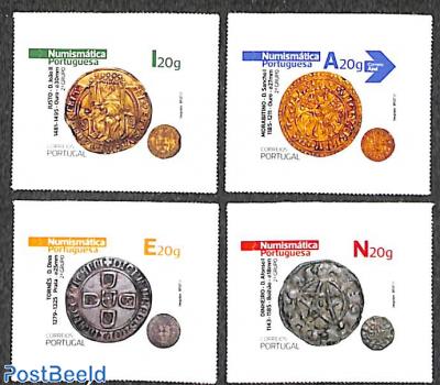 Old coins 4v s-a