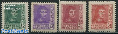 Definitives 4v, King Ferdinand II