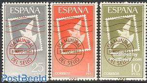 World stamp day 3v