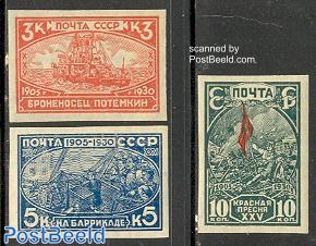 Revolution of 1905 3v imperforated