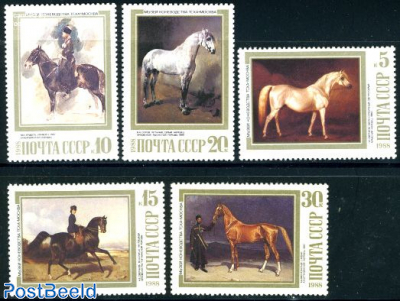 Horse paintings 5v