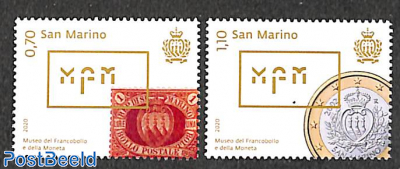 Stamp & coin museum 2v