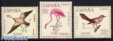 Stamp Day, birds 3v