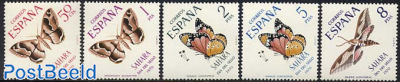 Stamp Day, butterflies 5v