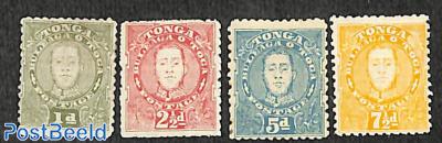Definitives, king George Tupou II 4v