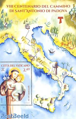 The trail of San Antonio of Padua s/s