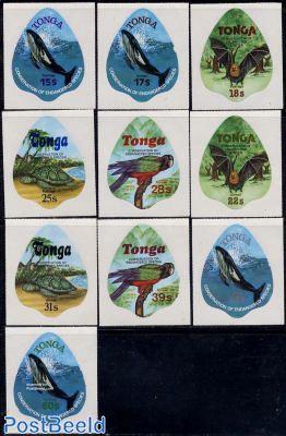 Endangered animals 10v