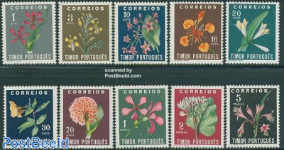 Definitives, flowers 10v