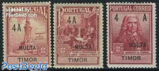 Pombal memorial postage due 3v