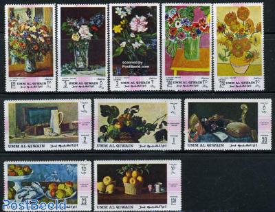 Flower paintings 10v