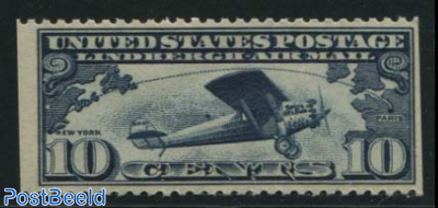 10c, Transatlantic flight 1v, left and right imperforated