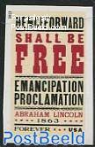 Emancipation Proclamation 1v, imperforated