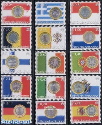 Euro coins/countries 15v