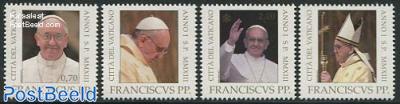 Pope Francis 4v