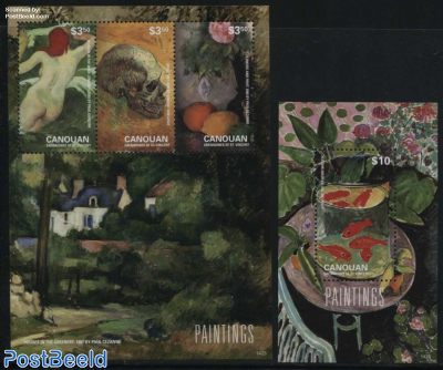 Canouan, Paintings 2 s/s