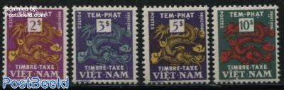 Postage due, dragons 4v