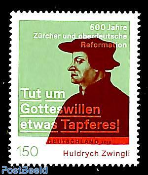 Huldrych Zwingli 1v, joint issue Switzerland