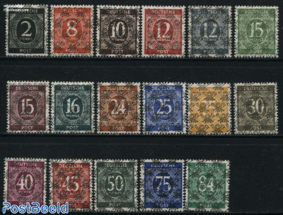 Overprints 17v (all over posthorn)