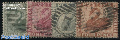 Definitives 4v, WM CA-Crown