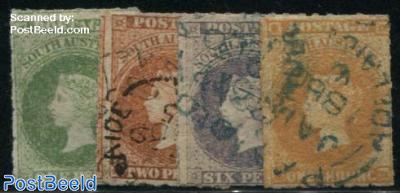 Definitives, Queen Victoria 4v