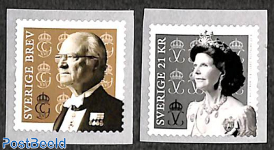 King and queen 2v, coil stamps