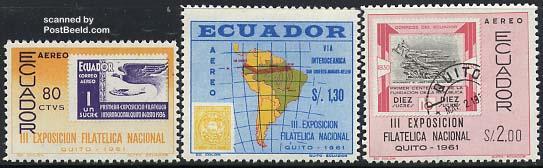 Stamp exposition 3v