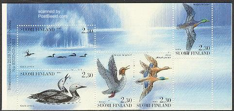 Water birds 5v in booklet