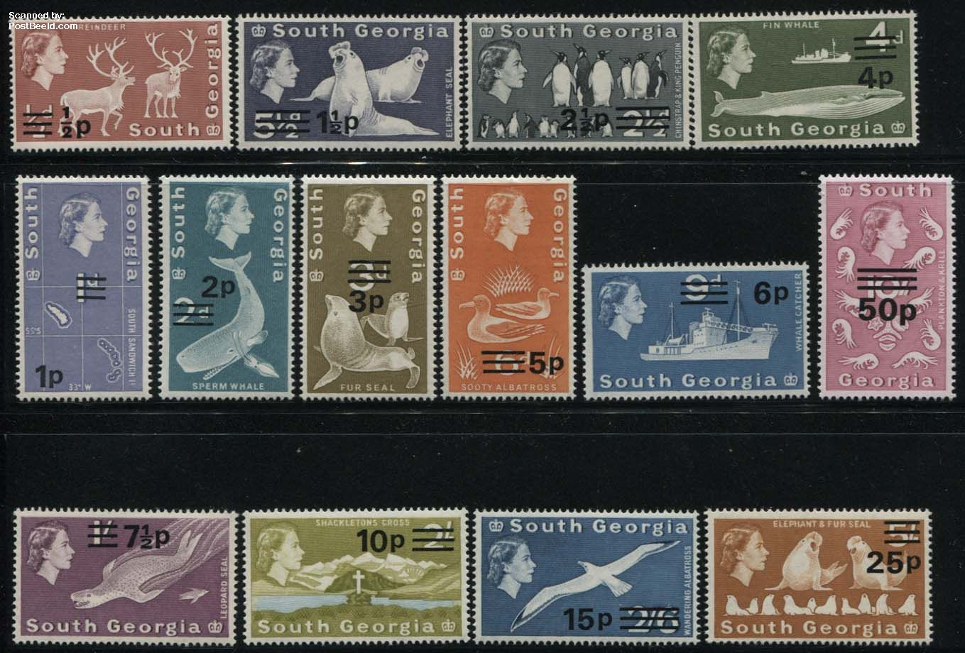 Definitives, overprints 14v