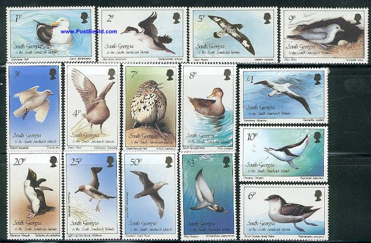 Definitives, birds 15v