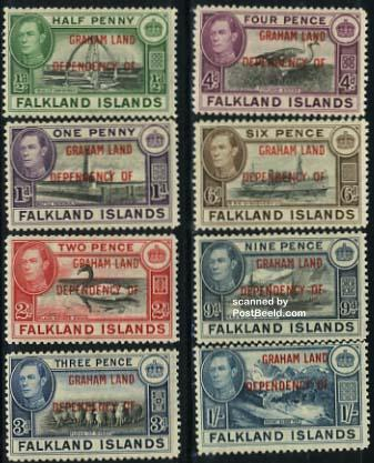 Graham land, definitives 8v