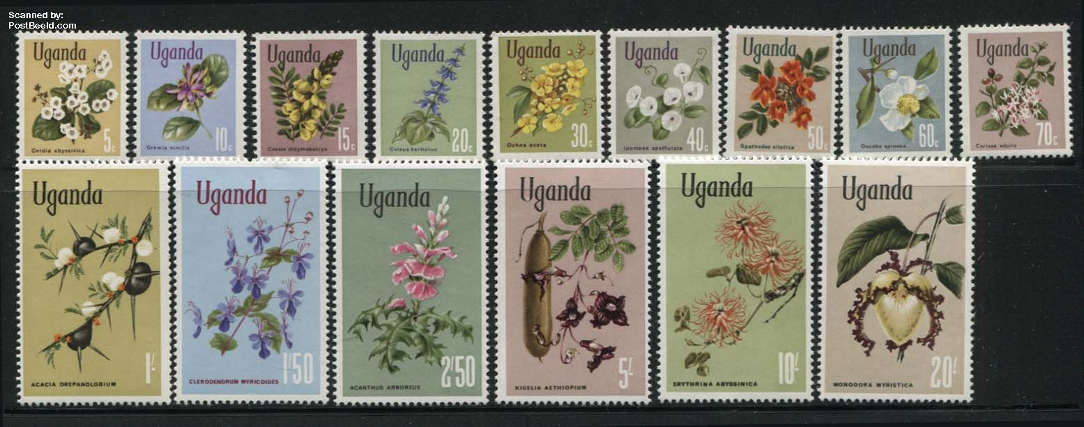 Definitives, flowers 15v