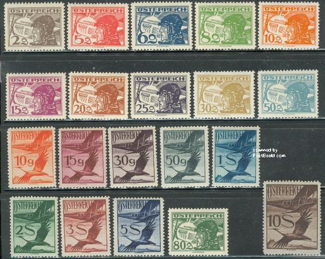 Airmail definitives 20v