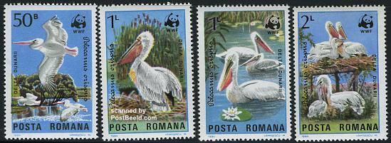 WWF, birds 4v