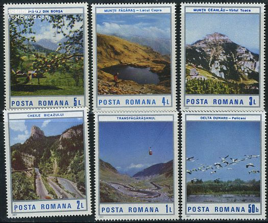Tourism, landscapes 6v