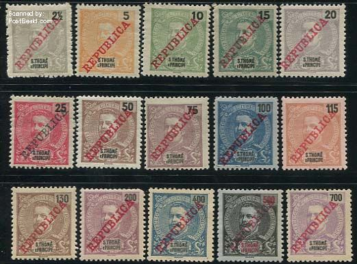 REPUBLICA Overprints 15v