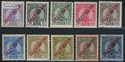 REPUBLICA Overprints 10v