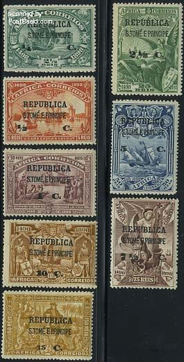 Overprints 8v (on port. africa)