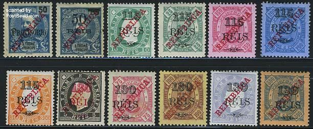 REPUBLICA Overprints 12v