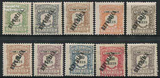 Postage due, Type I,10v