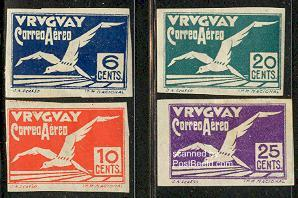 Airmail 4v imperforated