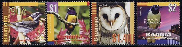 Bequia, birds 4v